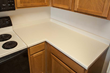 This laminate countertop looks dated and in need of an upgrade