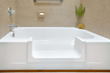 With the Easy Step tub-to-shower conversion, the bathtub is now much safer