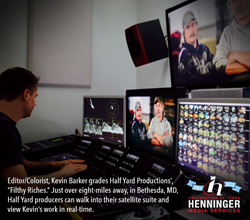 Editor/Colorist Kevin Barker color correcting using VIP with the DaVinci Resolve.