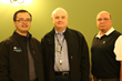 (L-R) Researcher-Computational Scientist He Huang, GNC Medical Director/Scientist Dr. Erwin B. Montgomery Jr. and GNC Vice President Tim Williams