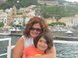 Ascione with daughter in Positano, Italy