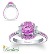 PC-7930LPSW Pink Sapphire Engagement Ring