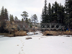 Steel bridge for Glacier Lodge