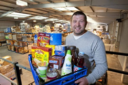 Dan Cluderay in the Approved Food warehouse