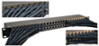 Patch panel with 45 degree angled cables