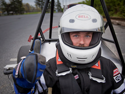 Driver Ryan Wetherhold '14 is ready for another lap. Driver Ryan Wetherhold '14 is ready for another lap. multidisciplinary student team at Lafayette College has designed and built a high-performance race car for the Formula SAE Collegiate Design Series.