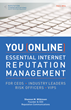 Online Reputation Management Guidebook Coming out September 2014