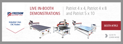 Freedom Machine Tool CNC Routers Live Demonstrations at IWF International Woodworking Fair 2014