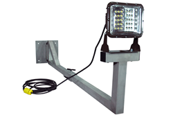High Output LED Light Emitter Mounted to an Adjustable Two-Part Swing Arm