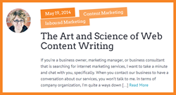 The art and science of web content writing.