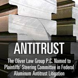 To learn more about filing an antitrust lawsuit, turn to  the Oliver Law Group P.C. for your free case review by calling toll free 800-939-7878 today or visiting www.legalactionnow.com.