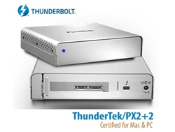 "ThunderTek/PX2+2 Thunderbolt to SATA Enclosure Supporting Two 2.5"" Drives Internally"