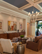 Living room at Palmhurst model by Beasley & Henley Interior Design