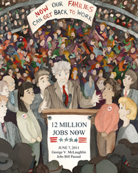 The 12 Million Jobs Now initiative is philanthropic in nature, requires no federal funding and calls for the immediate attention of America's visionaries, millionaires and billionaires.