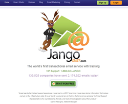 JangoSMTP Homepage