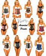 Assorted Verox Waist Training Corset Prints