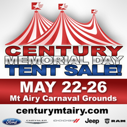 Century of Mt Airy Memorial Day Tent Sale