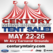 Century of Mt. Airy Auto Group Having Huge Memorial Day Tent Sale at the Mt. Airy Carnival Grounds