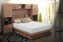 Pier Wall Bedroome in Natural Walnut Finish