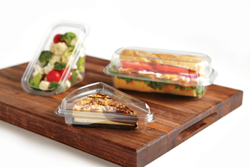 Recyclable plastic food packaging containers