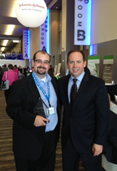 Brandon Jones, 2014 Outstanding Caregiver Award recipient with James Merlino, president of the Association for Patient Experience
