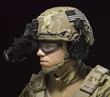 Revision's new High-Cut Batlskin Helmet features the upgraded Viper Front Mount and Interlocking Long Rails for attachment of headborne accessories and NVG