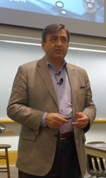 Eric Mazur, winner of the first Minerva Prize, gives frequent presentations on Peer Instruction methodology.
