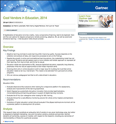 "eXplorance Named a ""Cool Vendor"" in Gartner's report ""Cool Vendor in Education, 2014"""