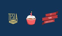 TeslaThemes 1st year anniversary