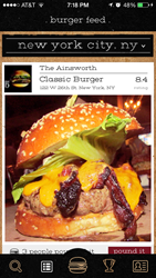 Find the best burgers near you with Burgerator's Burgerfeed