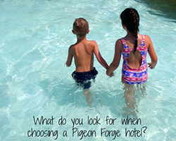 Kids having fun in a Pigeon Forge hotel pool