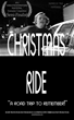 Christmas Ride Poster in Black and White, Keri running.