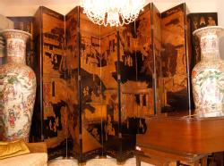 20th C. Chinese Coromandel Screen. Estate of Raymond Buldoc, Ogunquit, Maine