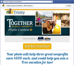 Trinity Property Consultants launches photo contest to benefit 3 charities with CafeGive Social App