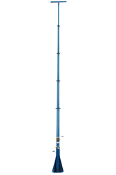 13 '- 50' Telescoping light mast with 2 hand winches for operation