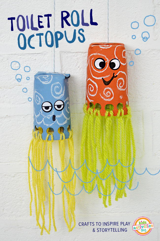 toilet roll octopus craft has been published on kids