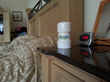 This Harmonizer is on the nightstand. The Harmonizer enhances sleep for some people, while others become energized.