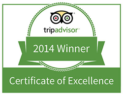 TripAdvisor is delighted to award Homefield Grange Retreat with a 2014 Certificate of Excellence.