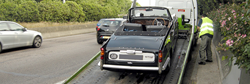 A Classic Car Requiring Breakdown Recovery