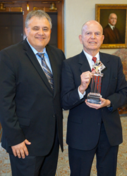 (L-R): Stetson Director of the Center for Excellence in Advocacy Charles Rose and Professor Emeritus William Eleazer.