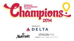 "The 2014 Children's Miracle Network Hospitals ""Champions"" program is presented by Delta Air Lines, Marriott International and Chico's FAS."