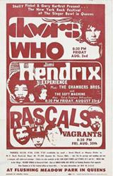 Vintage 1968 Jimi Hendrix/The Doors Singer Bowl New York Concert Posters