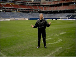 On a site inspection at Reliant Stadium, Houston, Texas