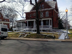 101 Mobility installed a wheelchair ramp at Fort Myer in Arlington, VA