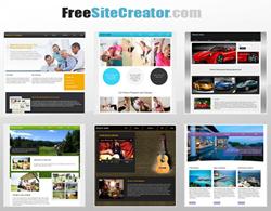 free site creator templates
