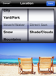 The app allows users to enter their location type based on environment and directness of sunlight.