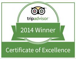 TripAdvisor Certificate of Excellence | Vajra Sol Yoga Adventures
