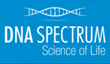 DNA Spectrum Logo on blue