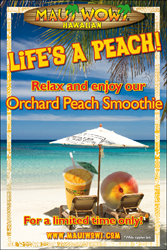 Orchard Peach returns to Maui Wowi for a limited time.