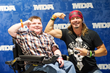 Bryson Foster and Bret Michaels having some fun posing for the cameras at the 27th annual Ride for Life on May 3.